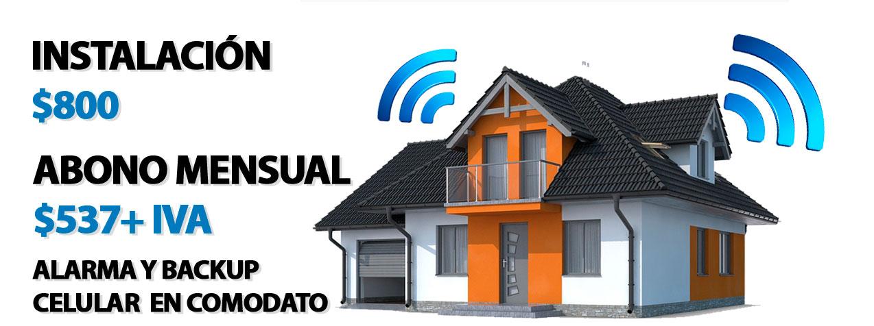 alarmas domiciliarias con backup celular